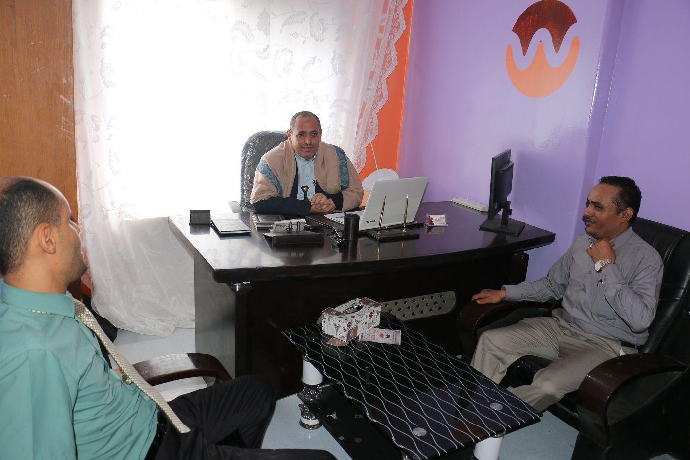 شركة تطبيقات الويب العربية تستقبل وكيل أول محافظة تعز الدكتور عبدالقوي المخلافي